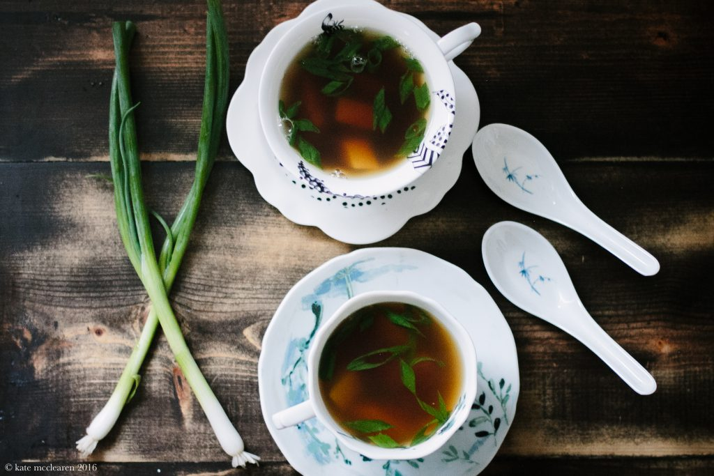 Miso Soup in Coffee Syphon | The Everyday Chef and Wife